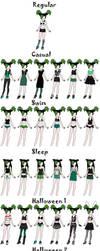 Venus College AU Outfits by BrainyxBat