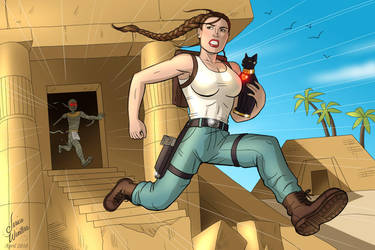 Lara Croft and the Egyptian Temple by JericaWinters