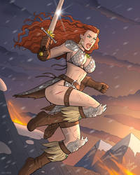 Red Sonja Attacks by JericaWinters