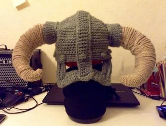 Crochet Skyrim Helmet by EpicStone