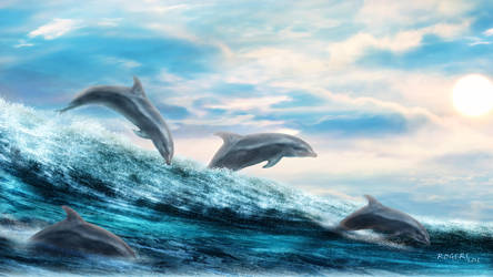 Dolphin Oceanscape by Red-Rogers