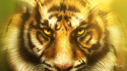 Bamboo Tiger Wallpaper by Red-Rogers