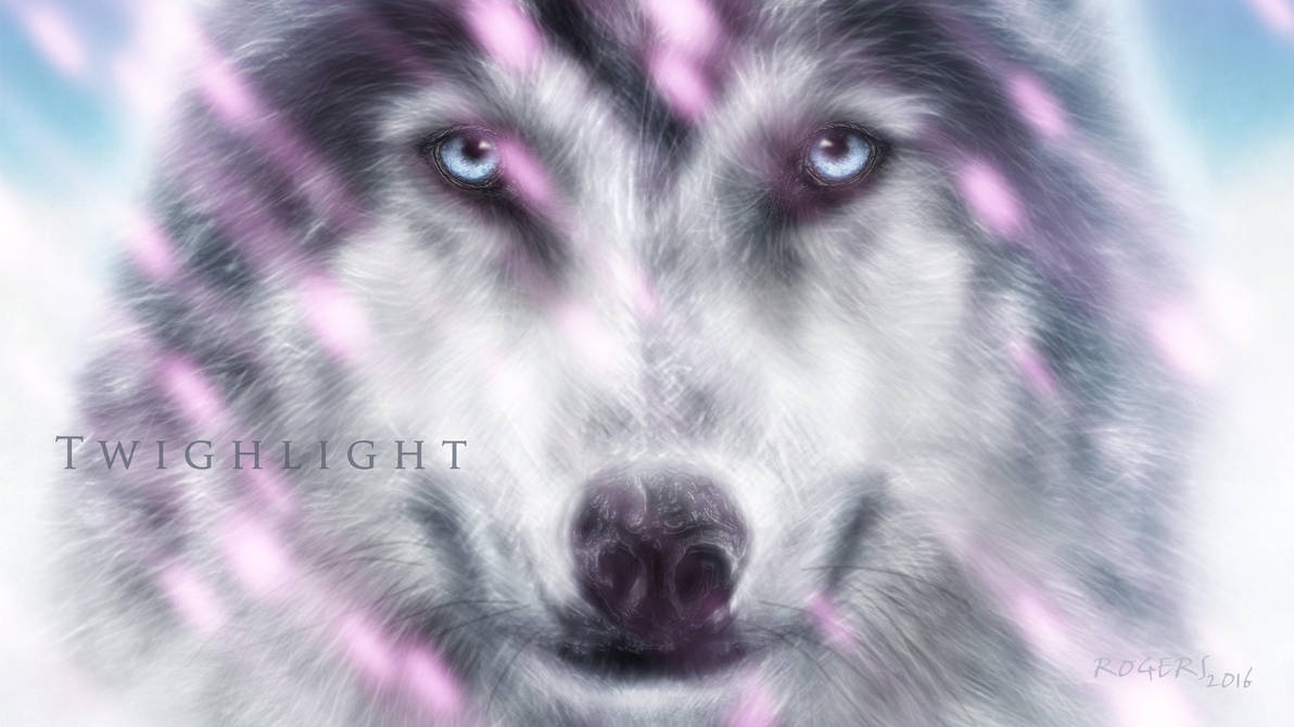 Twighlight Wolf Widescreen Wallpaper by Red-Rogers