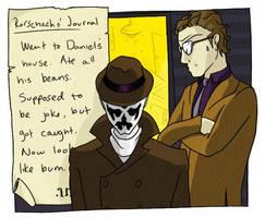Rorschach and Nite Owl. by Kaek01