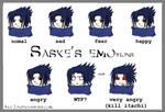 Saske's EMOtions by Aka-Joe