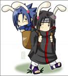 ItaSasu: Bunnys by Aka-Joe