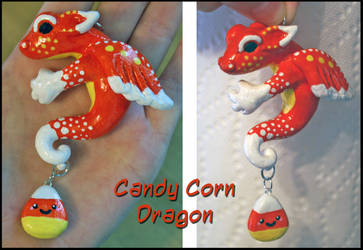 Candy Corn Dragon and Charms by balletvamp