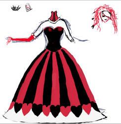 Queen of hearts cosplay design by missjinxtrickster