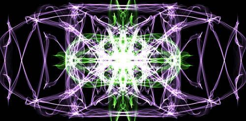 Purple and Green Pattern by millyfan224