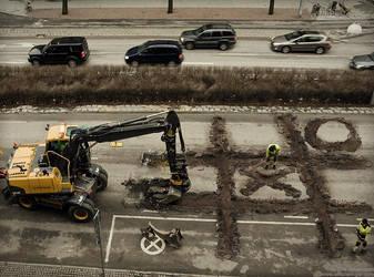 roadworkers coffee break by alltelleringet