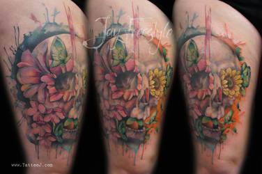Skull tattoo - Jay Freestyle 2 by JayFreestyle