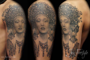 Geisha tattoo - Jay Freestyle by JayFreestyle