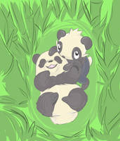 Pancham and Baby panda by alpacapala