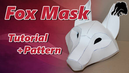 Kitsune Mask Tutorial and Pattern by Kazulgfox