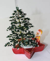Santa Claus under a fir tree by Spirit-of-Laharah