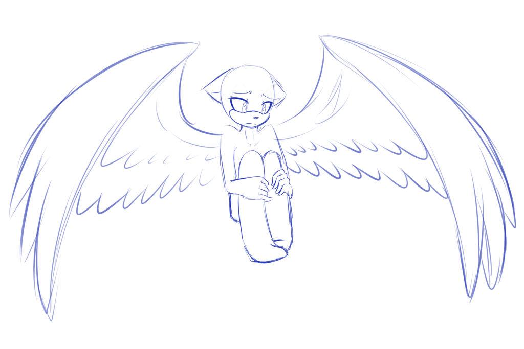 Sonic male base. Sad angel. by ApallonShinomia