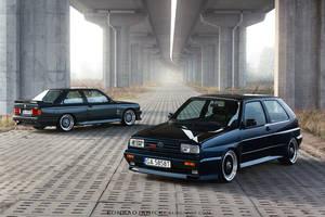 VW Golf Rallye and BMW E30 M3 Johnny Cecotto by KonradJanicki