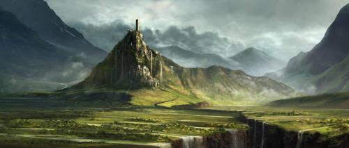 Ravine Castle by waywalker