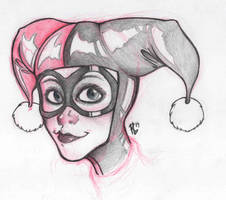 Harley Quinn - Sketch by raffabr94