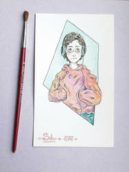 Watercolor drawing #4 by SilverDreamCat