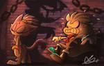 SaNiC HaLlOwEeN #8: Scaredy Cat by Blossom-fur7
