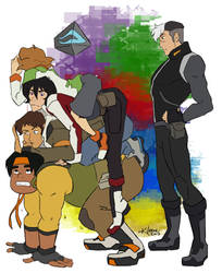 nosy paladins .... and shiro by K-Laine