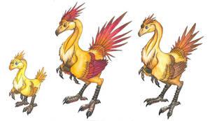 Dinochobo Sizes by pearlzu