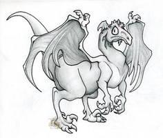 Toony DracoRaptor for raptor85 by pearlzu