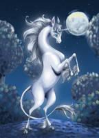 Last Unicorn Cover by pearlzu