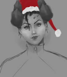 Merry Christmas from Mercy (Overwatch)! by skitty2