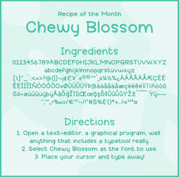 Font: CHEWY BLOSSOM - preview by jelloween