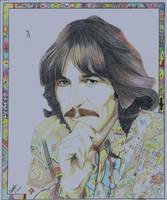 George Harrison by professorwagstaff