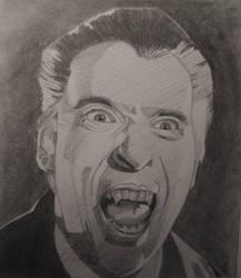 Christopher Lee  Dracula by professorwagstaff