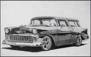 56 Chevy Nomad by professorwagstaff