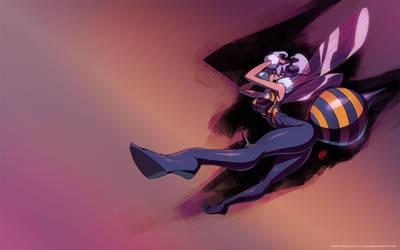Q-Bee - Darkstalkers Wallpaper by qiqo