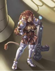 Crusader olixia Brighthammer by onikumomaru