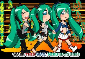 Walk This Way Miku Hatsune by PolyMune