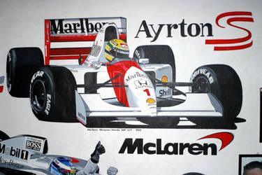 McLaren - Ayrton Senna by machoart