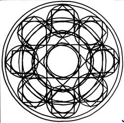Over complicated octagram based magic circle by MayGoldworthy