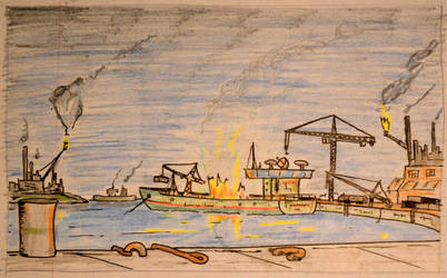 Oil tanker explosion by MayGoldworthy