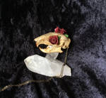 Spice Stained Rose Squirrel Pendant by TheSilverCaribou