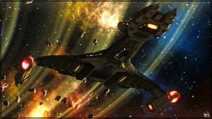 Vor'cha Class Battle Cruiser #002 by Kurumi-Morishita