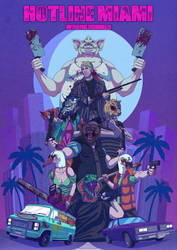 Hotline Miami 2 Artwork by Mogura-no-kanji