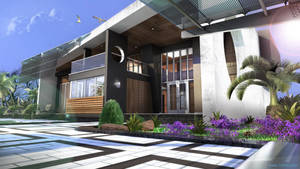 Villa Moderner-Tropic Version by 1zmim