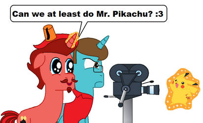 Thespio and Jasper - **** MR. PIKACHU! by FreshlyBaked2014