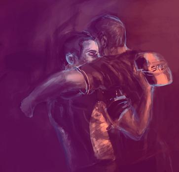 Lean on me - Joker+Mshep by squidbreath