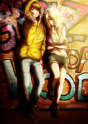 Mei and Tsunade - Girlz in da hood by CherryInTheSun