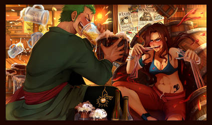 commission - Cana vs Zoro by CherryInTheSun