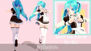 [DL] TDA Maid Miku DL! by MirinTheFox