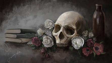 Skull-still-life by Smaragdia